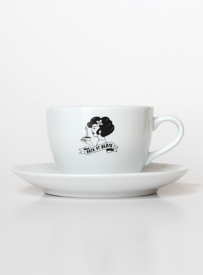 Cappuccino Cup - Back to Black Coffee Roasters